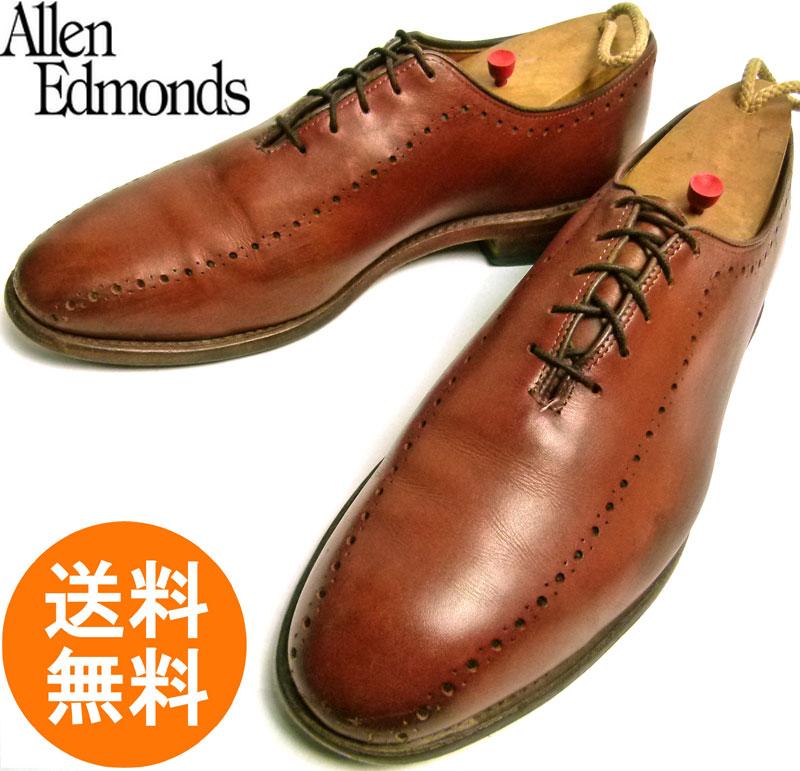 アレンエドモンズ Allen Edmonds Hasting USA製 プレーントゥシューズ 7 1/2D(25.5cm相当)【中古】【送料無料】