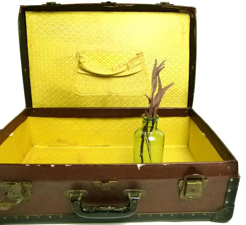 昭和レトロ アンティーク トランク オールド スーツケース(茶)【中古】【送料無料】
