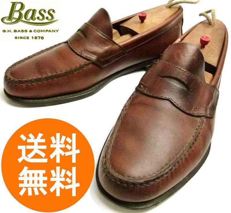 バス WEEJUNS ウィージャンズ Bass コイン(ペニー)ローファー 9 1/2D(27.5cm相当)【中古】