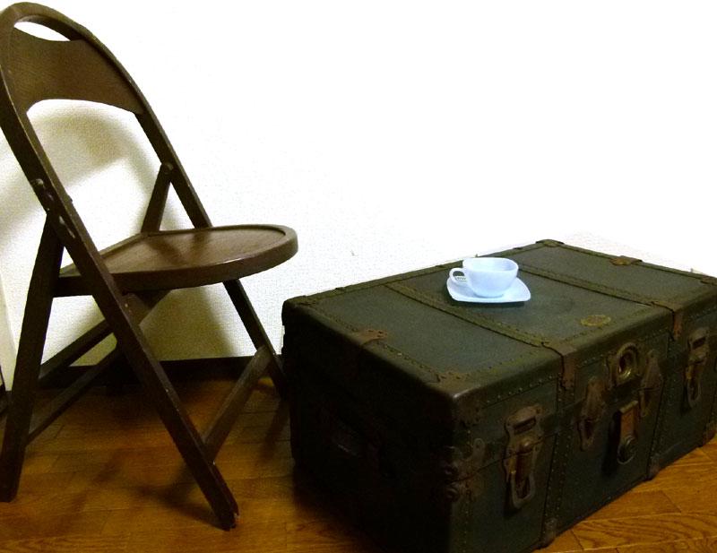 USA製 DURABLE アンティーク トランク 船箱 コーヒーテーブル ローテーブル【中古】【送料無料】