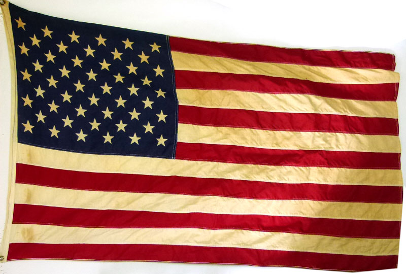アメリカ国旗 星条旗 バナー 50スター ビンテージフラッグ【中古】【送料無料】