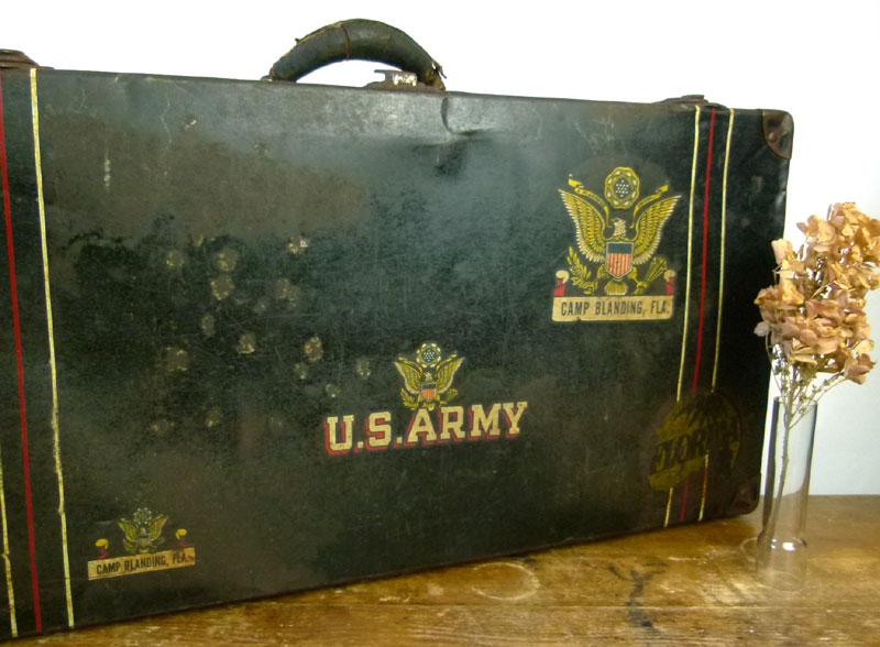ビンテージ US.ARMY 米軍トランク ケース バッグ【中古】【送料無料】
