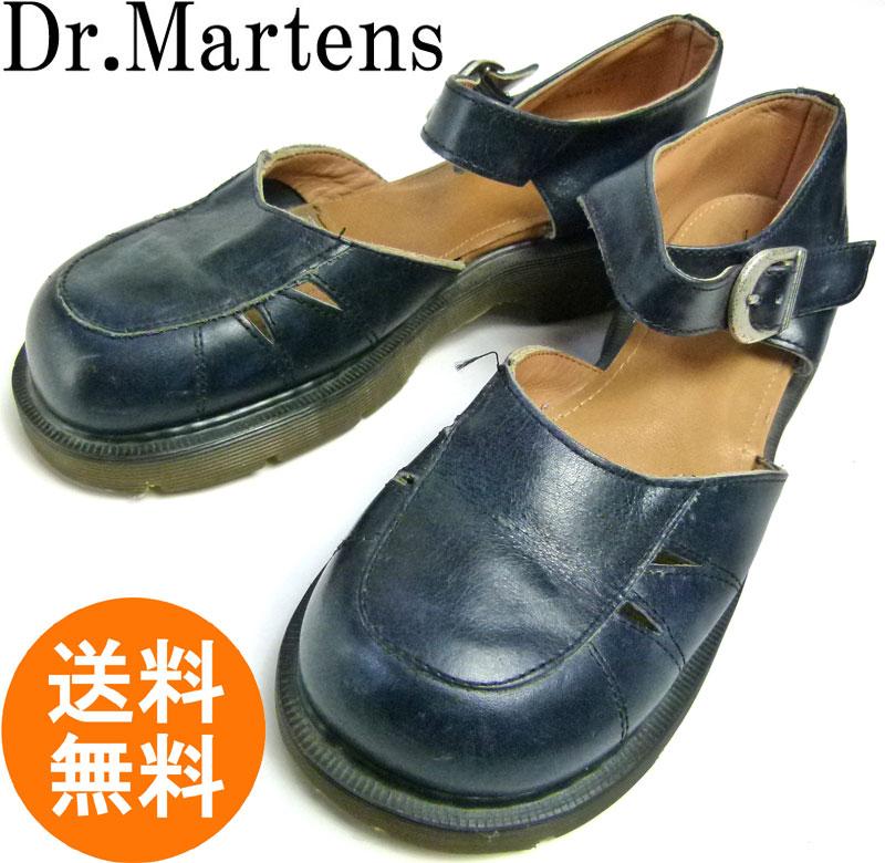 ドクターマーチン Dr.Martens ストラップ デザイン サンダル レザー シューズ UK7(25.5cm相当)( レディース )【中古】