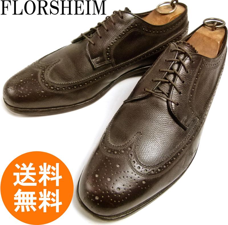 フローシャイム FLORSHEIM ウィングチップシューズ 8 1/2 3E(27cm相当)( メンズ )【中古】
