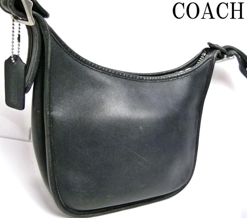 オールドコーチ OLD COACH レザーショルダーバッグ (黒)【中古】【送料無料】