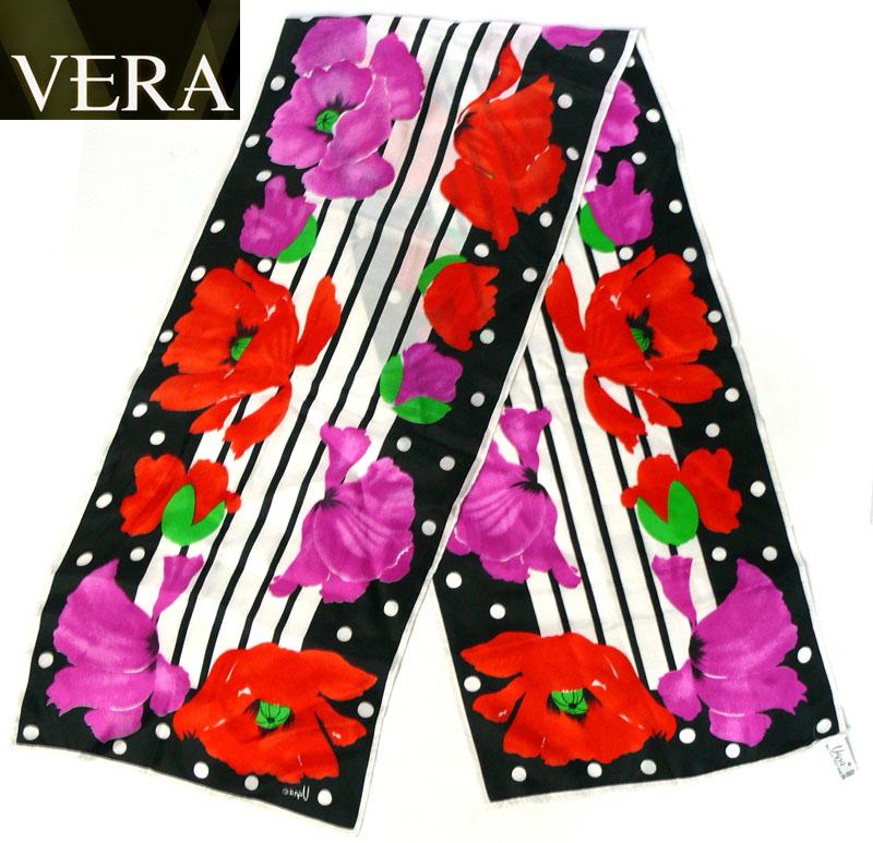 ビンテージ雑貨1970sVera(ベラ)ビンテージ花柄スカーフ( レディース )【中古】【メール便可】