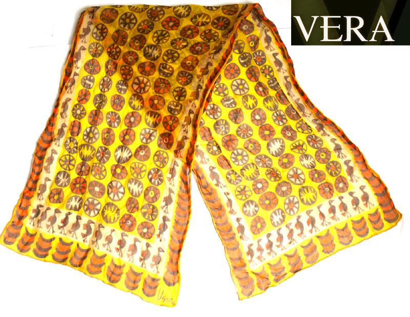 ビンテージ雑貨Vera(ベラ)鳥柄スカーフ( レディース )【中古】【メール便可】