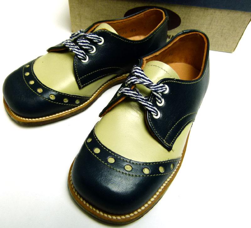 キッズ用1960s  The  Tru Fit shoe ビンテージ コンビレザー2トーンシューズ Size 8 1/2E(箱付デッドストック)【中古】