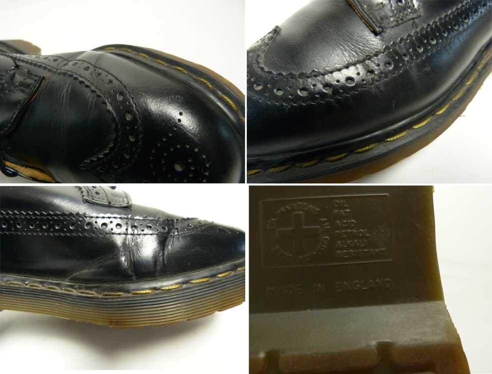 英国製 ドクターマーチン Dr.Martens 5ホール ウイングチップシューズ  UK9(27.5cm相当)(メンズ)【中古】