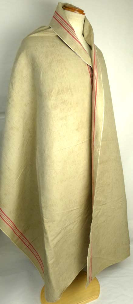 1940年代頃 フランス アンティーク カスリ リネンクロス / リメイク生地(280×88cm)【中古】