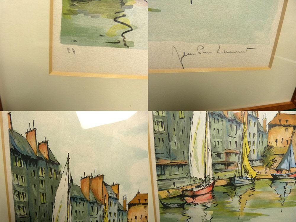 ジャン・ピエール・ローラン Jean Pierre Laurent / リトグラフ / 舟 直筆サインあり【中古】
