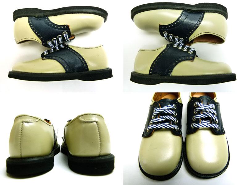 キッズ用1960s  The  Tru Fit shoe ビンテージ コンビレザー2トーンシューズ Size 6 C(箱付デッドストック)【中古】