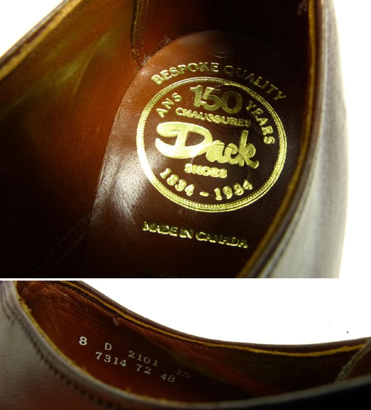 カナダ製 ダックス Dacks プレーントゥシューズ  8(26cm相当)(メンズ)【中古】