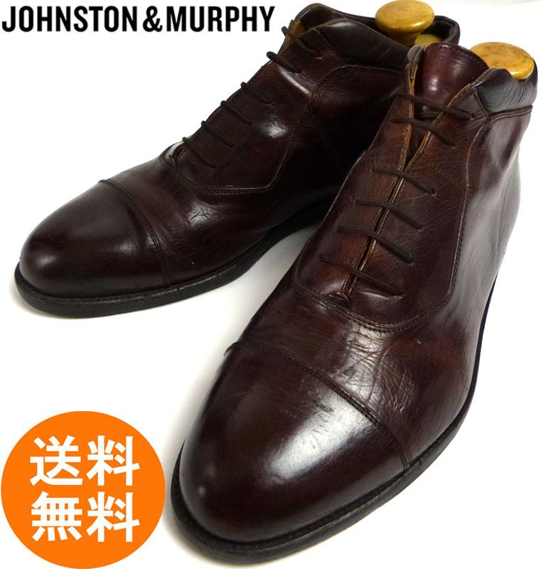 イタリア製 ジョンストン&マーフィー JOHNSTON & MURPHY DOMANI アンクルブーツ 11W(29~29.5cm相当)(メンズ)【中古】