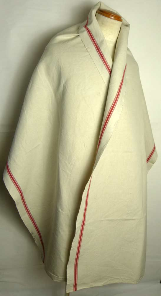 1940年代頃 フランス アンティーク リネンクロス / リメイク生地(244×68cm)【中古】