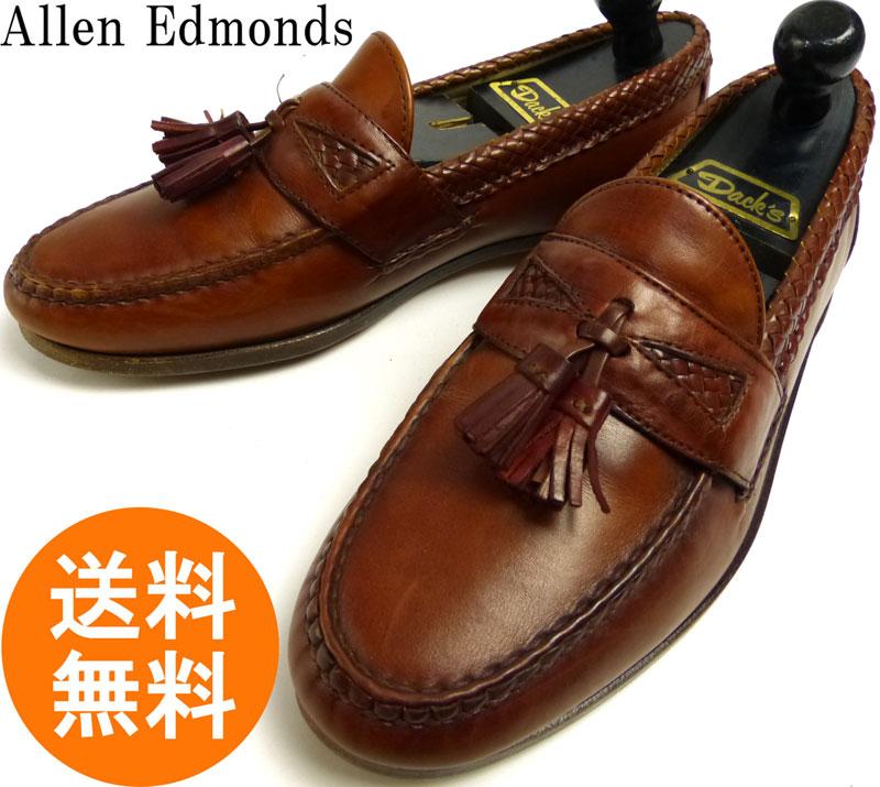 アレンエドモンズ Allen Edmonds Maxfield USA製 タッセルローファー 9 D(27cm相当)( メンズ )(茶/ブラウン)【中古】【送料無料】