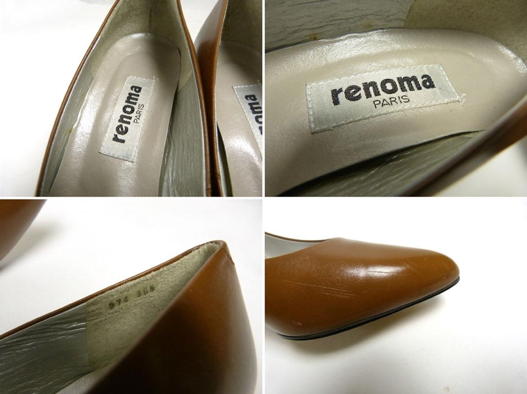 【未使用品】ユーピーレノマ /U.P renoma パンプス/ヒール 36 1/2(24cm相当)(レディース)(デッドストック)【中古】