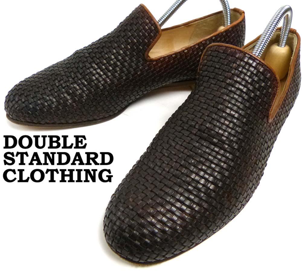 ダブルスタンダードクロージング DOUBLE STANDARD CLOTHING 編み込みレザーローファー/ オペラシューズ 37 1/2(24.5cm相当)(レディース) 【中古】