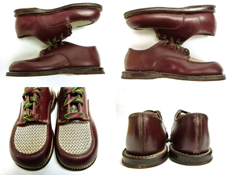 キッズ用1960s  The  Tru Fit shoe ビンテージ コンビレザー2トーンシューズ Size 5(箱付デッドストック)【中古】