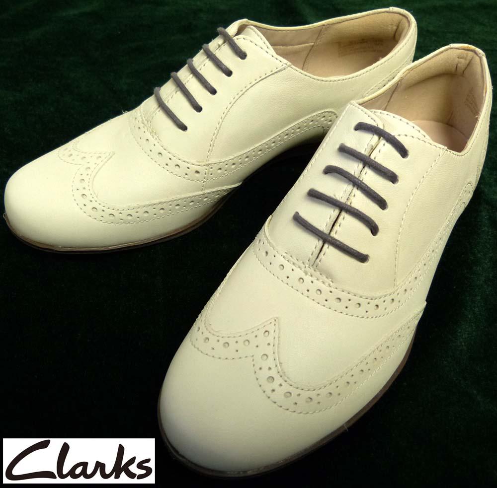 【未使用】クラークス Clarks Hamble Oak ウイングチップシューズ UK4D(23cm相当)(レディース)(デッドストック)【中古】