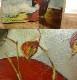 1980年制作  J.Wada 花/ 花瓶/油絵/ 油彩画 F6/6号【中古】