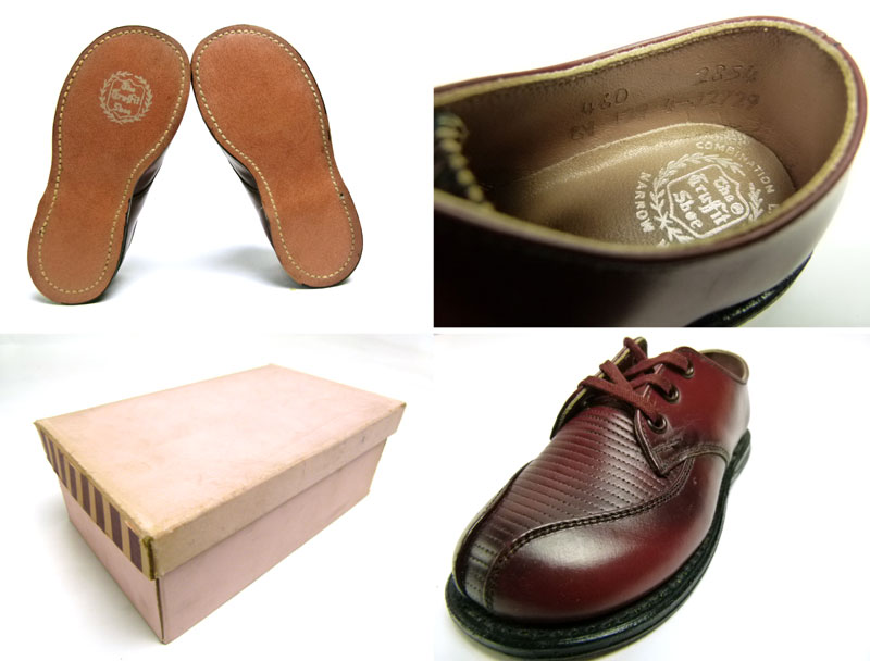 キッズ用1960s  The  Tru Fit shoe ビンテージ レザーシューズ (箱付デッドストック)【中古】