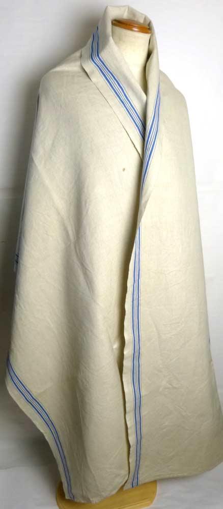 1940年代頃 フランス アンティーク リネンクロス / リメイク生地(281×89cm)【中古】