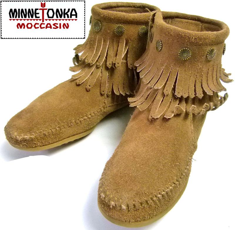 ミネトンカ Minnetonka フリンジ ショートブーツ US6(23cm相当)【中古】