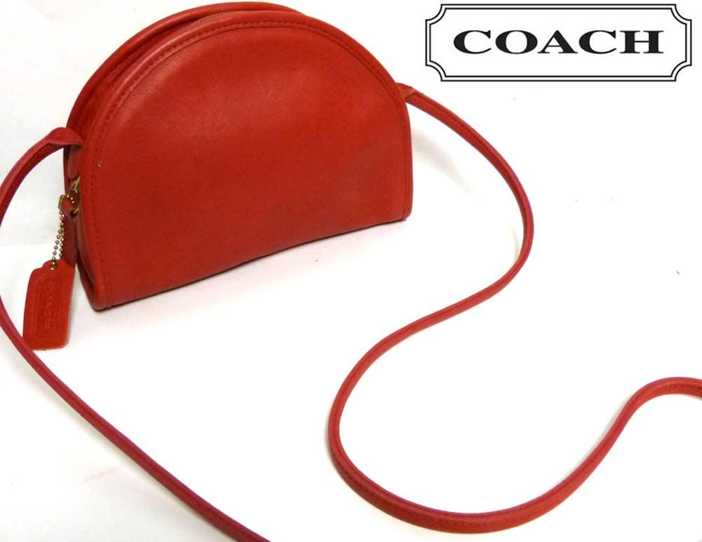 USA製 オールドコーチ OLD COACH ショルダーミニバッグ(赤)【中古】