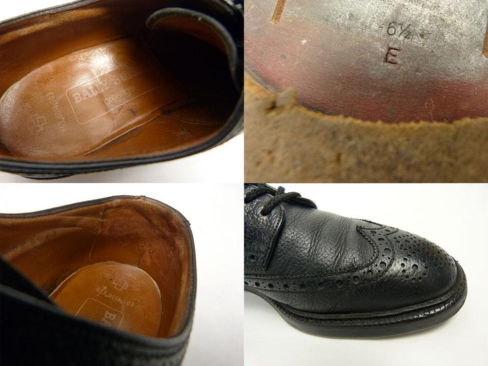バリー BALLY SUISSE シボ革 ウイングチップシューズ 6 1/2E(25-25.5cm相当) (メンズ)【中古】