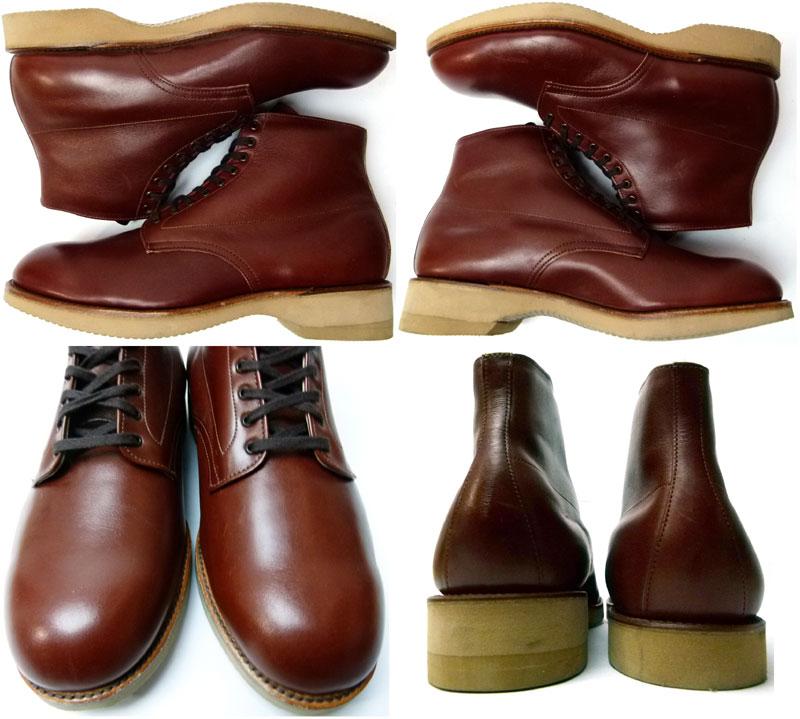 【ALDEN/オールデン】#306本革レザープレーントゥ ブーツ10E/EEE(28〜28.5cm相当)( メンズ )(デッドストック)【中古】【送料無料】