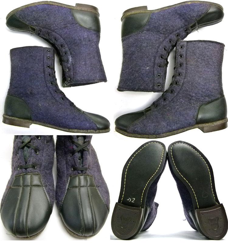 1950〜60s 2トーン フェルト/ウール ブーツ (26〜26.5cm相当)( メンズ )【中古】