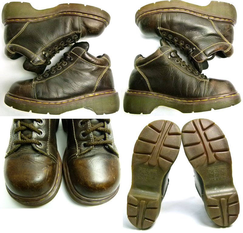 ドクターマーチン Dr.Martens イングランド(英国)製 6ホールブーツ UK7(25.5cm相当)【送料無料】【中古】