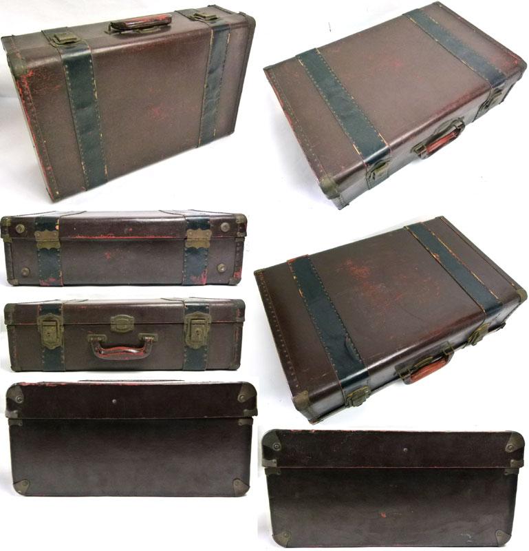 アンティーク トランク オールド スーツケース(濃茶)【中古】【送料無料】