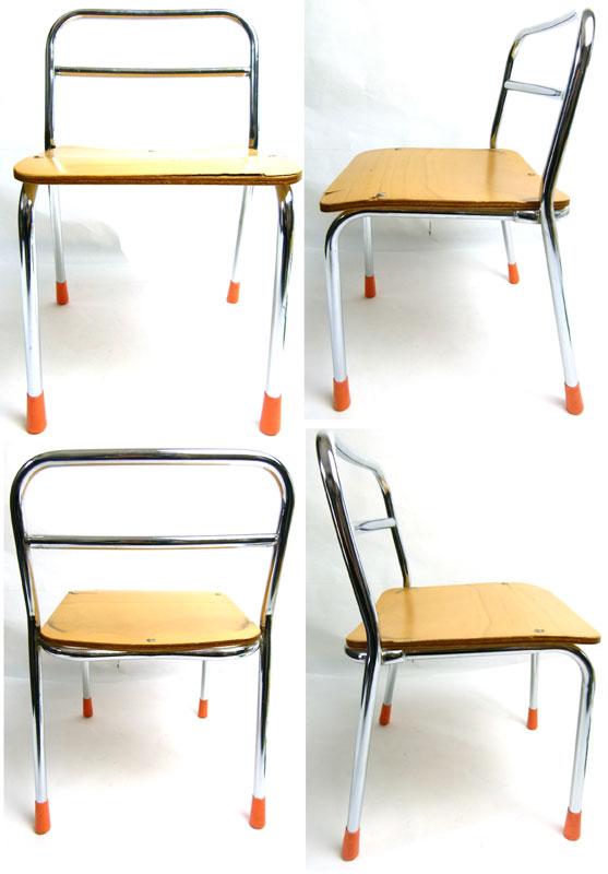 レトロ スクールチェア 小さな椅子 幼稚園【中古】