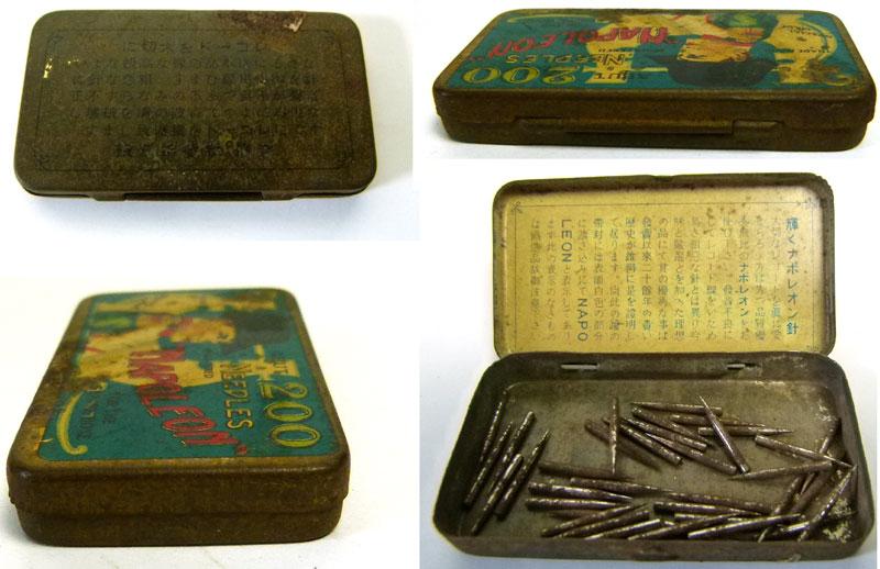 レトロ NAPOLEON 古い蓄音機針缶 / ブリキ缶 / ニードル缶【中古】【メール便可】