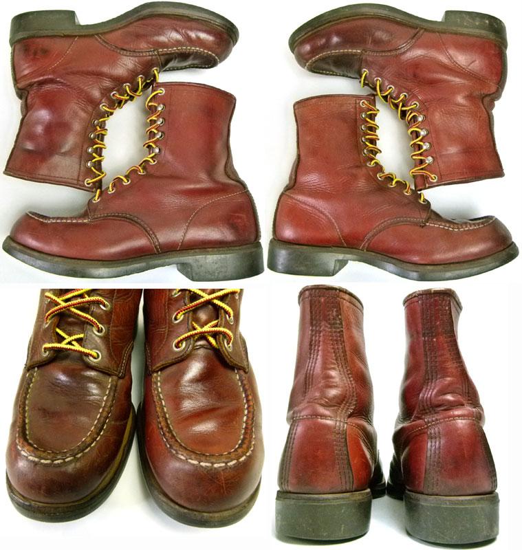 1980s レッドウィング RED WING ♯214 USA製 編み上げワークブーツ 9D(27cm相当) ( メンズ )【中古】【送料無料】