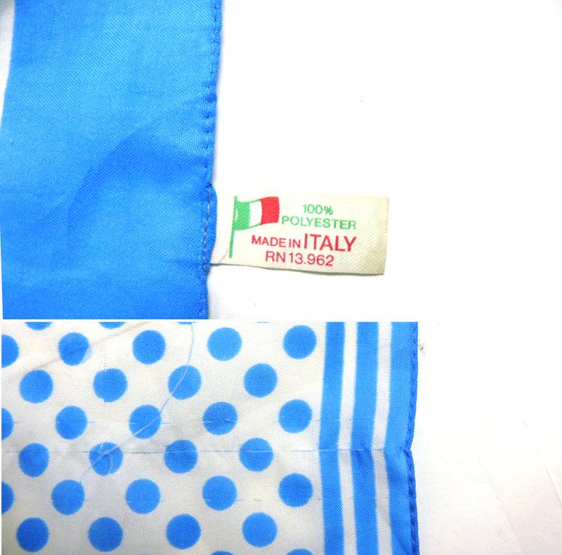 イタリア製ドット柄 スカーフ( レディース )【中古】【メール便可】