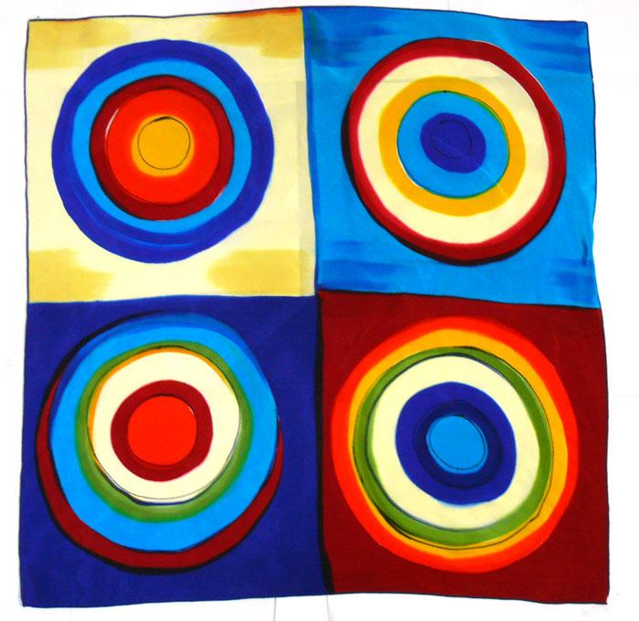 幾何学柄vintageビンテージ(scarf)スカーフ( レディース )【中古】【メール便可】