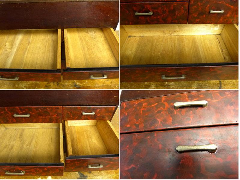 昭和レトロ 木製裁縫箱 / 針箱/ ソーイングボックス / 小物入れ / 古道具【中古】