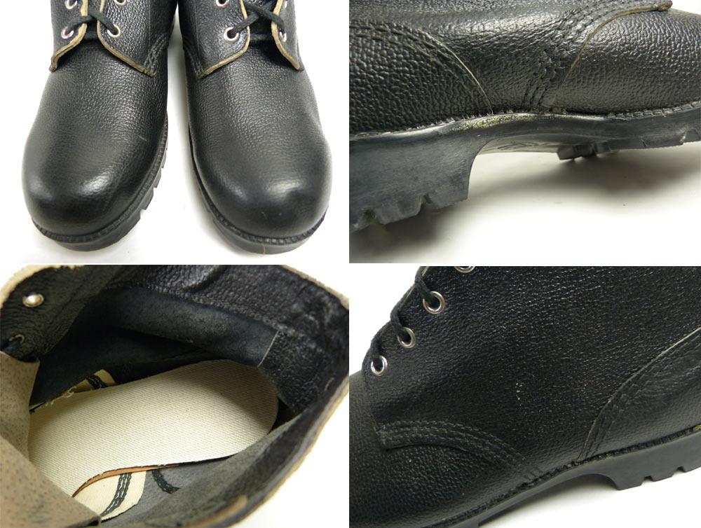 Made in GDR( 旧東ドイツ製 )シボ革 ミリタリーワークブーツ 9(28-28.5cm相当)(メンズ)【中古】【送料無料】