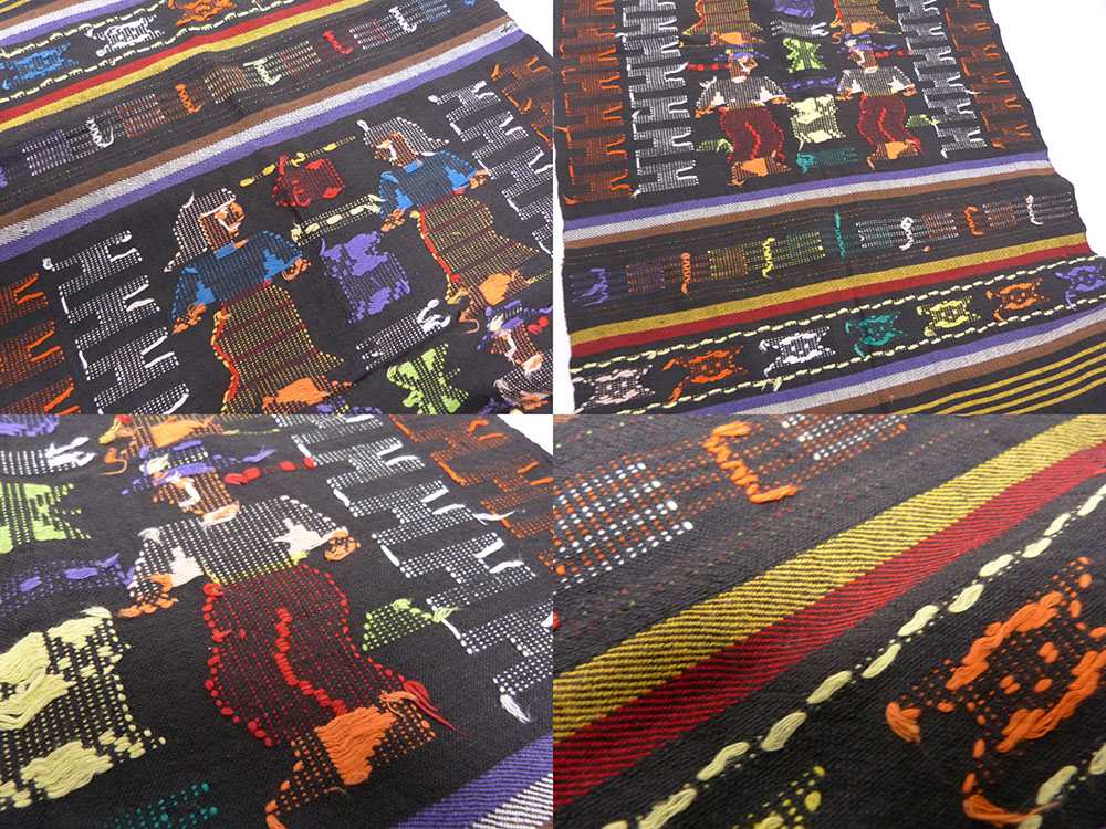 1970-80s ビンテージ グアテマラ刺繍 ラグ /テーブルクロス/ランチョンマット(ガテマラ)【中古】
