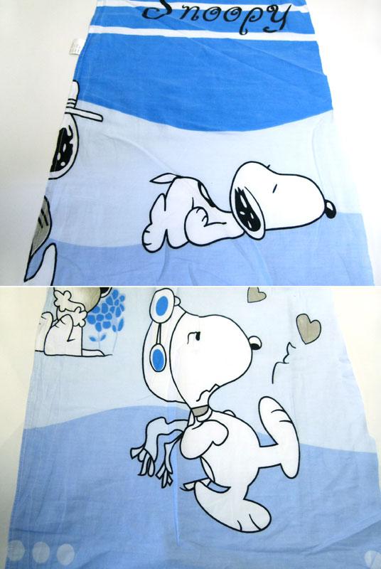 SNOOPY スヌーピー キャラクター シーツ(62×224cm)/はぎれ【中古】【リメイク生地】【メール便可】