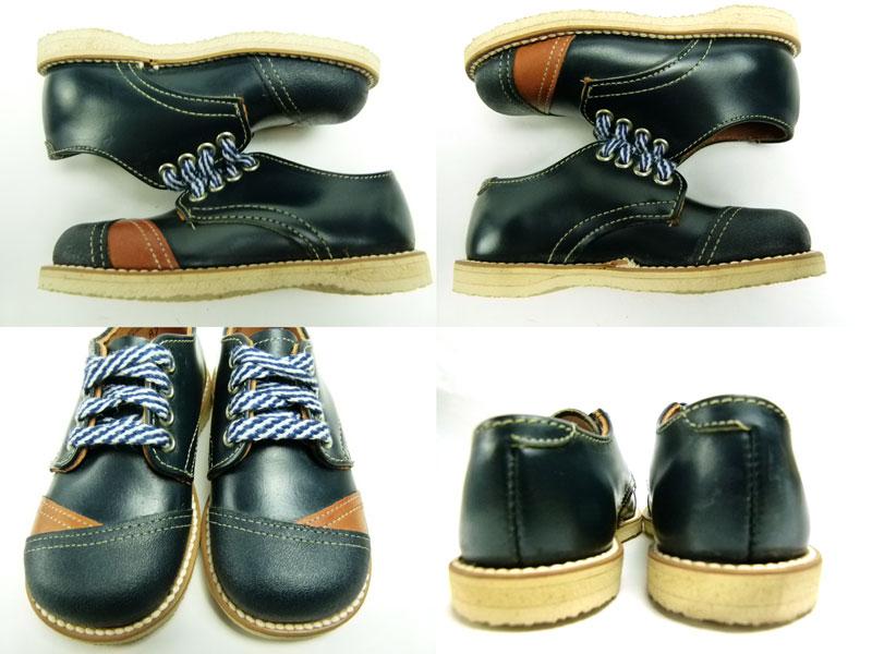キッズ用1960s  The  Tru Fit shoe ビンテージ 2トーン レザーシューズ 5 1/2D(箱付デッドストック)【中古】