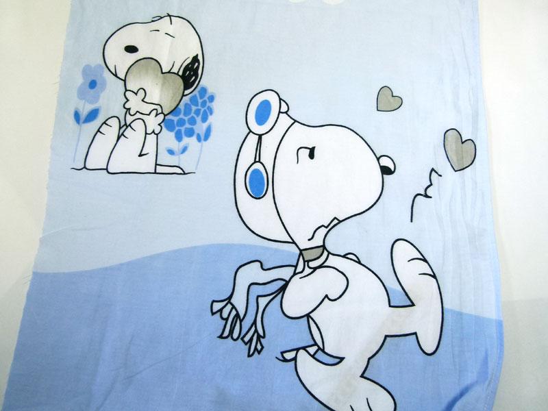 SNOOPY スヌーピー キャラクター シーツ(52×224cm)/はぎれ【中古】【リメイク生地】【メール便可】