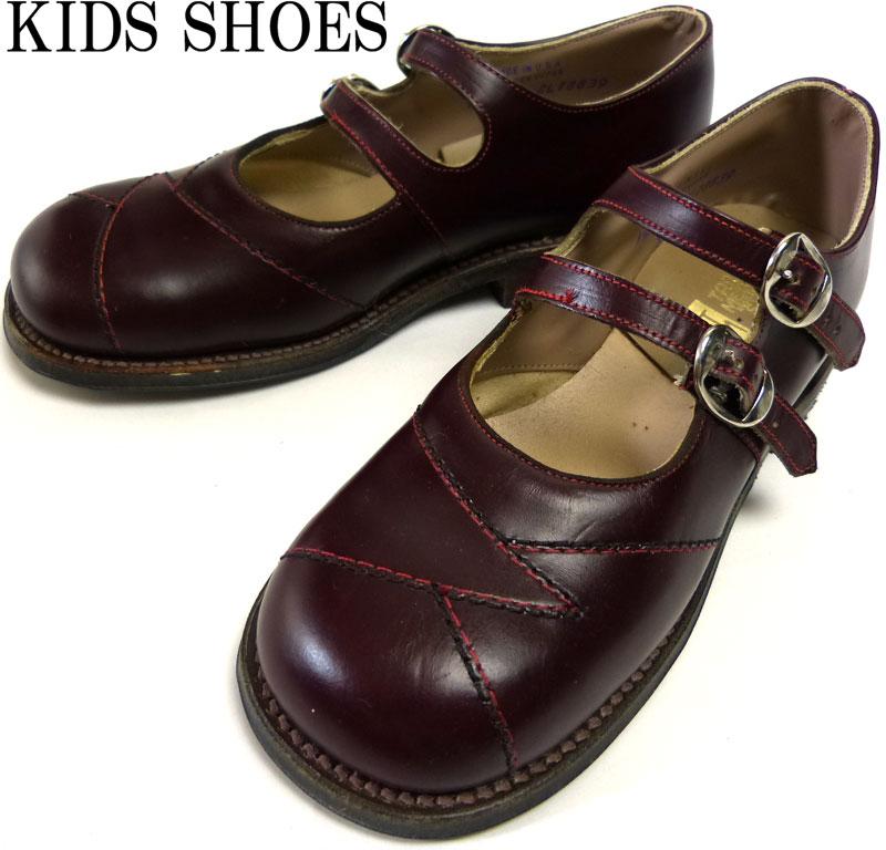 キッズ用 1960s USA製 tarso medius shoes レザーシューズ 1 1/2B(20-20.5cm相当)(デッドストック)【中古】