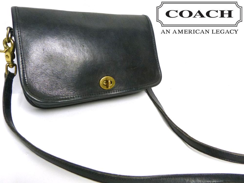 USA製 オールドコーチ COACH コーチ ターンロック 本革 ショルダーバッグ【中古】【送料無料】