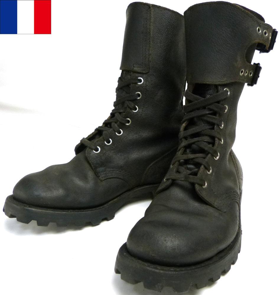1972年製 フランス軍 MARBOT/マルボー ダブルバックル コンバット/コマンドブーツ 40(25-25.5cm相当)(ビンテージ)(実物)【中古】【送料無料】