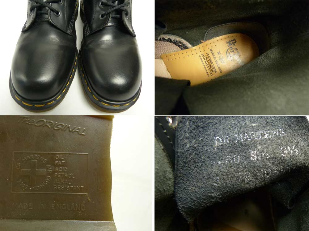 英国製 ドクターマーチン Dr.Martens 8ホールブーツ UK9 1/2(28cm相当)(メンズ)【中古】【送料無料】