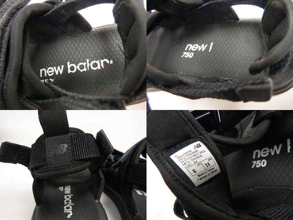 NEW BALANCE ニューバランス SDL750 スポーツ サンダル US6(24cm相当)【中古】